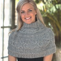 2158 Cabled Shrug