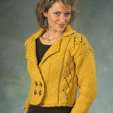 Plymouth Yarn 2256 Double Breasted Cropped Cardigan (DeAire)