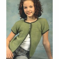 2283 Child's Top Down Raglan Cardigan