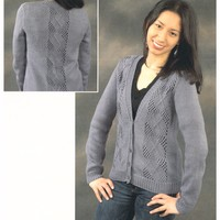 2322 Argyle Lace Cardigan