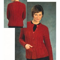 2386 Woman's Cabled Cardigan