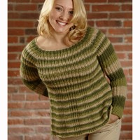2615 Woman's Ribbed Yoke Pullover (Pasea)