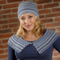 2616 Hat & Shoulder Scarf Set