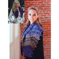 2704 Cable Edge Scarf & Shawl