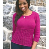 Plymouth Yarn 2889 Women's Lace Pullover