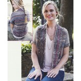 Plymouth Yarn 2914 Women's Cabled Shawl Collar Cardigan