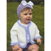 Plymouth Yarn 2918 Baby's Angora Trimmed Cardigan