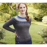 Plymouth Yarn 2953 Women's Fair Isle Yoke Pullover