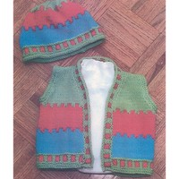 P292 Child's 3 Color Vest And Hat