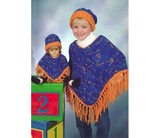 Plymouth Yarn P426 Girl And Doll's Poncho & Hat