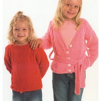 P622 Child's Cabled Cardigan And Pullover