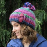 Plymouth Yarn F569 Gina Chunky Slip Stitch Button Hat (Free)