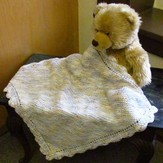 Plymouth Yarn F573 Baby Beenz Crochet Edged Baby Blanket (Free)