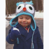 Plymouth Yarn F654 Knit Owl Hat (Free)