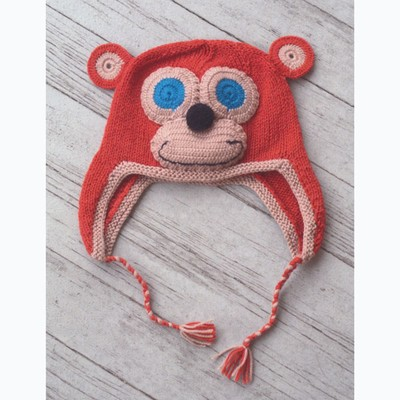 Knitting Pattern For Monkey Hat : Plymouth Yarn F655 Knit Monkey Hat (Free) at WEBS Yarn.com