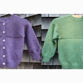 PollyMacc Designs Garter Down Pullover and Cardigan for Children