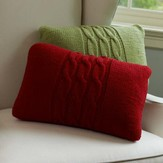 Red Heart Cabled Pillows (Free)