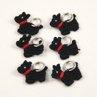 Scotty Dog Stitch Markers
