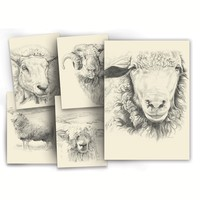 Portrait Sheep Greeting Cards