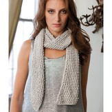 Stacy Charles Fine Yarns Hilary Silver Bias Scarf (Free)