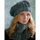 Stacy Charles Fine Yarns Sandra Cabled Cowl and Beret (Free)