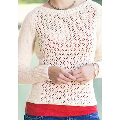 Universal Yarn Fleurette Lace Pullover (Free) at WEBS Yarn.com