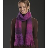 Universal Yarn Mohair Mountain Simple Scarf (Free)