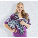 Universal Yarn English Garden Shawl PDF