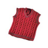Valley Yarns 119B Daddy & Me Boy's Cabled Vest (Free)