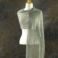 205 Crocus Bud Crocheted Shawl