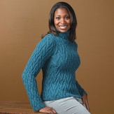 Valley Yarns 267 Phantom Braid Cabled Pullover (Free)