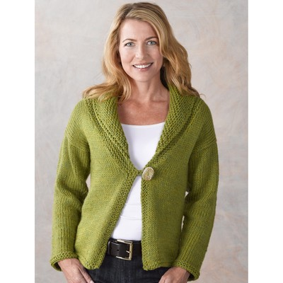 Knitting Pattern Cardigan Shawl Collar : Valley Yarns 289 Aurora Shawl Collar Cardigan at WEBS ...
