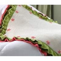 406 Flower Garden Ruffled Baby Blanket
