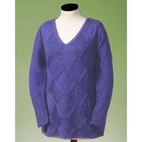 128 Moss And Diamond V-neck Pullover