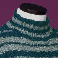 114 Striped Reverse Rib Mock Turtleneck PDF