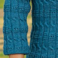 186 Cable And Eyelet Pullover PDF